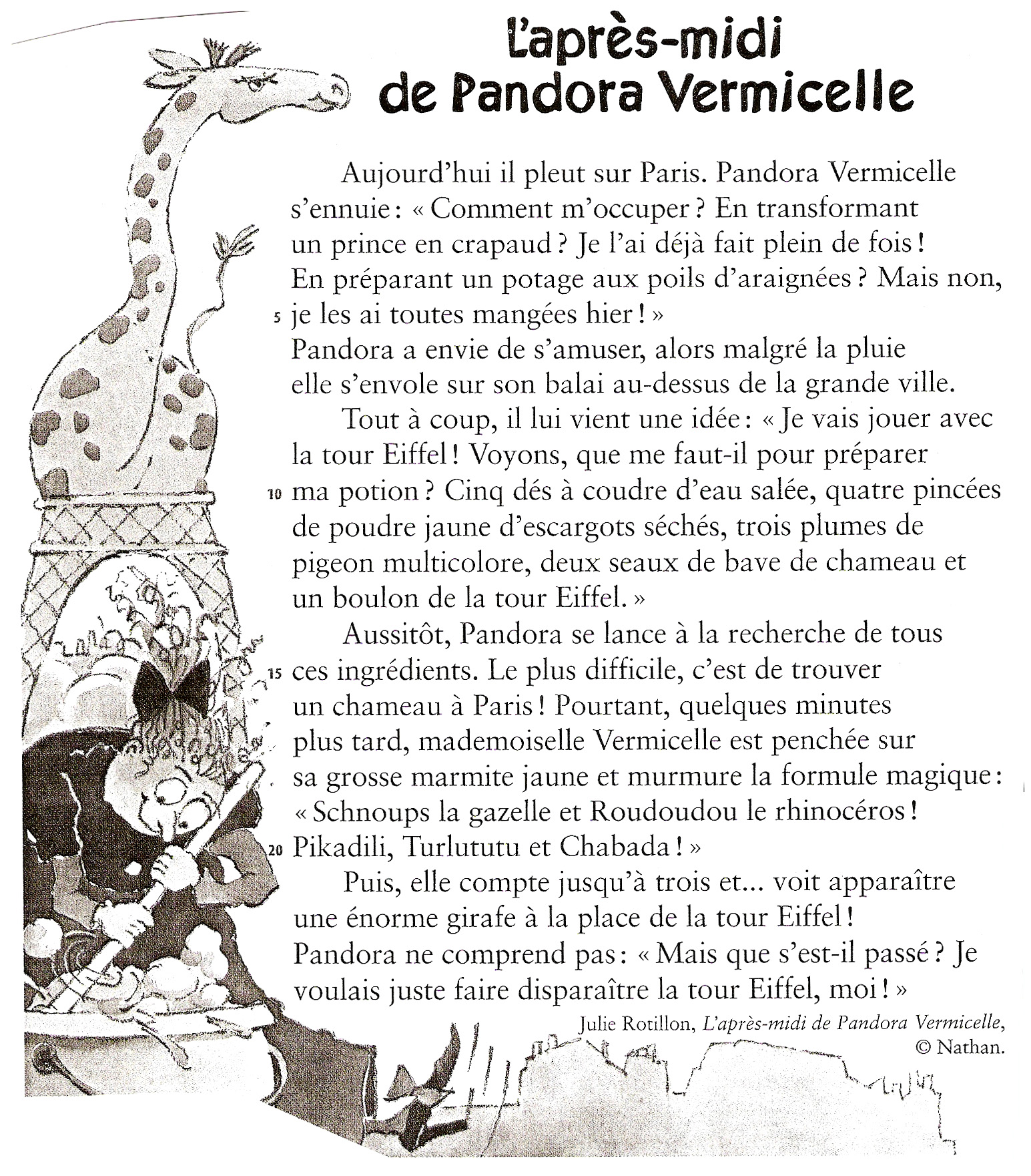 Bien-aimé Lecture CE1 ♢ L'après-midi de Pandora Vermicelle (extrait) TD27