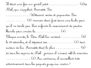 Lecture Ce1 Fiche Sur Le Theme De Noel Cartable D Une Maitresse