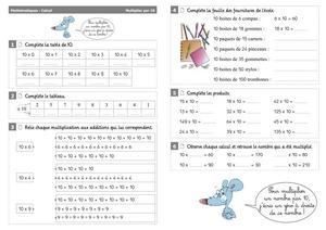 Calcul Ce1 Multiplier Par 10 Cartable D Une Maitresse