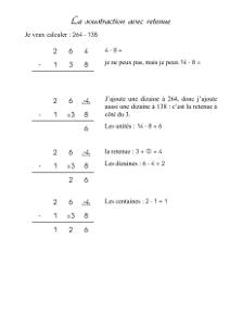 Calcul ce1 technique de la soustraction avec retenue cartable d 39 une maitresse - Soustraction avec retenue cm1 ...