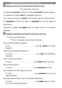 Grammaire Ce2 Identifier Le Sujet Du Verbe Cartable D Une Maitresse
