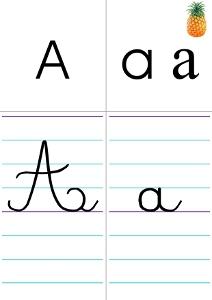 Affichage De L Alphabet En 4 Graphies Cartable D Une