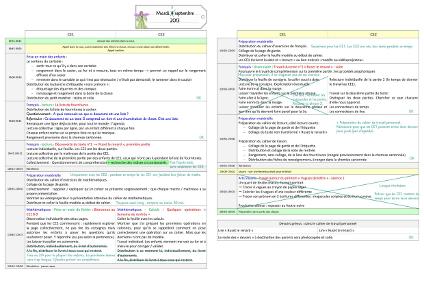 Mon cahier-journal 2013-2014 en CE1-CE2 ~ Cartable d'une ...